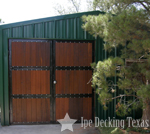 ipe barn door in texas